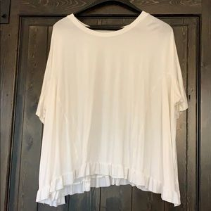 Off-White Flow Short Sleeve Tunic Size Small